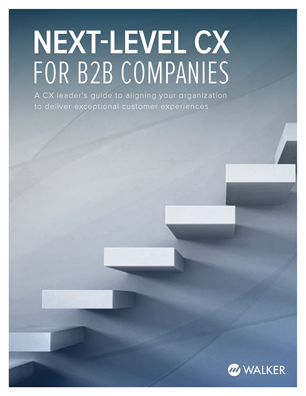 Report cover for Next-level CX for B2B Companies